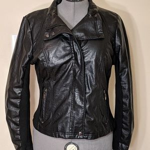 Therapy Moto Jacket Faux Leather size L
